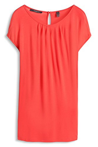 Esprit 036eo1k016 - Floating Soft Quality - T-shirt - Femme Rouge - Rot (CORAL 645)