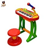 Best For Kids Z3132A Kinder Piano Musikinstrument Keyboard Spielzeug Klavier Kinderpiano, Hocker und Mikrofon