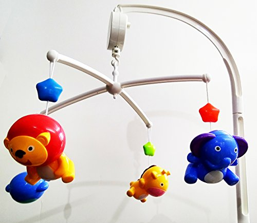 GoAppuGo Musical Cot Mobile Toy With (wind-up key) Rotation and 4 Hanging Rattle Toys - baby cot mobile Best Cradle crib hanging rotating baby toys, newborn baby gifts,