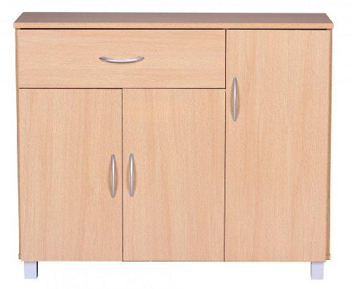 Sideboard mit 3 Türen und Schublade in Buche; Maße (B/T/H) in cm: 90 x 30 x 75
