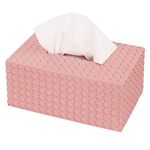 YLIK Candy Farbe Kreative Kosmetiktücher Box Einfache Serviette Aufbewahrungsbox Tissue Dispenser Halter Wohnzimmer Hause Auto Verwenden,Rosa,22 * 14 * 9.5cm