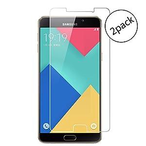 [2 Stück] Samsung Galaxy A7 2016 Displayschutzfolie, Echtglas Gehärtetem Glas Schutzfolie Displayschutzfolie für Samsung Galaxy A7 2016 (Panzerglas, 9H Härtegrad, 0.26mm, Unsichtbar, Kratzfest)