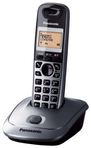 Panasonic KX-TG2511JTM - Teléfono (DECT, Negro, Gris, LCD, AAA, Pared, Naranja)