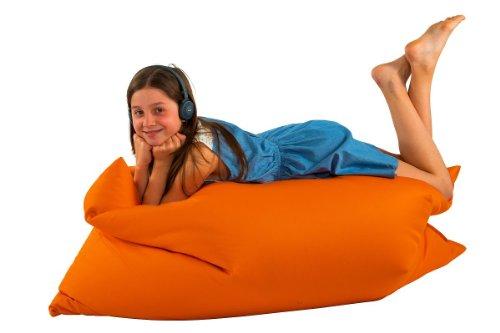 kuschelbaby Sitzsack XXL für Kinder 140x100 cm orange mit schadstofffreier (toxproof) und extra...