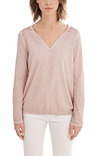 ESPRIT Damen Langarmshirt 027EE1K011 Rosa (Old Pink 680), 40 (Herstellergröße: L)
