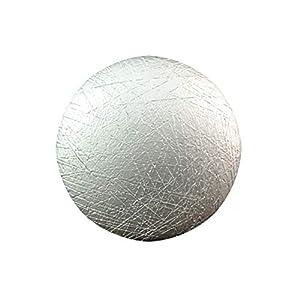 Magnetbrosche, Clip, Schmuckanhänger, Tuchhalter, Kreis, rund, gebürstet