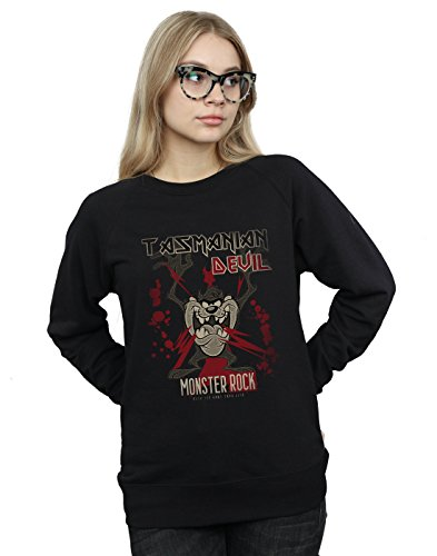 Looney Tunes Damen Tasmanian Devil Monster Rock Sweatshirt Schwarz Large