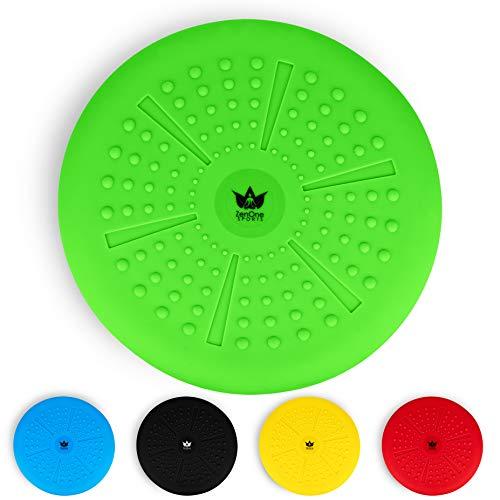 ZenBalance Plus Balance Ball Luftsitzkissen 33 cm inkl. Pumpe I Ergonomisches Luftkissen zum Sitzen mit GRATIS E-Book & Workout-Guide I Premium Aufblasbares Sitzkissen für Damen und Herren (Grün)