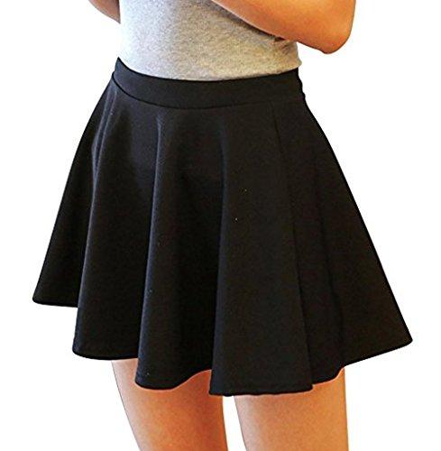 Venkaite Kurz Röcke Damen Retro Sexy Rock Faltenrock Partykleider Lycra Baumwolle Kleider Minirock Kurz Skirt Sommerkleid Frühling Sommer Herbst