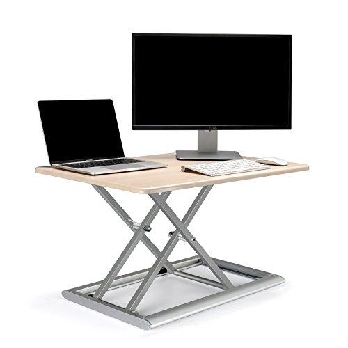 t Konverter Höhe verstellbar sitzen, um Ständer für Laptop und Monitor, 765x 51mm Arbeiten Oberfläche, 55~ 430Höhenverstellung, belastbar bis 11,3kg–Zuhause oder Büro White Birch (Id-30) (Verstellbare Stehpult Top)