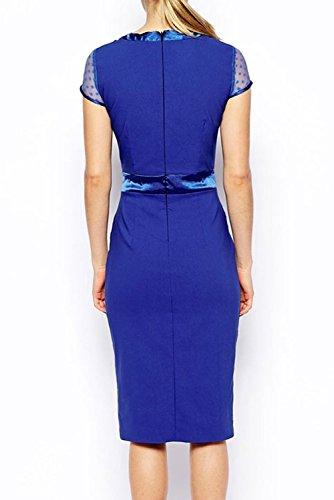 Dissa® Deman Blau SY6689 vintage Kleid Blau