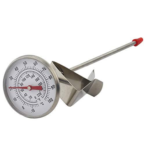 Termometro per latte, ideale per formaggio, latte, yogurt, latticini, per baristi, lunghezza sonda 170 mm
