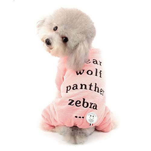 Ranphy Hundepullover, Pyjama für den Winter, für Chihuahua, Fleece-Futter, warmes Yorkie-Kostüm, für kleine Hunde und Katzen (Pink-katze Halloween-kostüm Für Kleinkind)