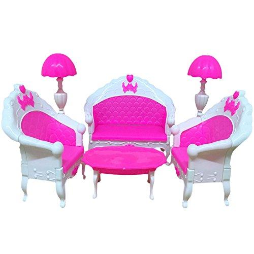 �bel Wohnzimmer Set Tisch und Stuhl für Barbie-Puppen (Pferd Kostüm Make-up)
