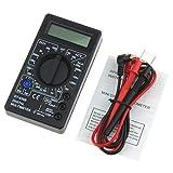 Kaemma DT-830B Mini Pocket Digital Multimeter 1999 Zählt AC/DC Volt Amp Ohm Diode hFE Tester Amperemeter Voltmeter Ohmmeter (Farbe: Schwarz)