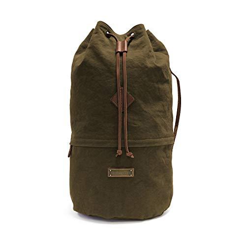 DRAKENSBERG Seesack, leicht, Kimberley-Light-Duffel-Bag, 43 L, Canvas und Echt-Büffel-Leder, auch nutzbar als Reisetasche oder Rucksack, O...