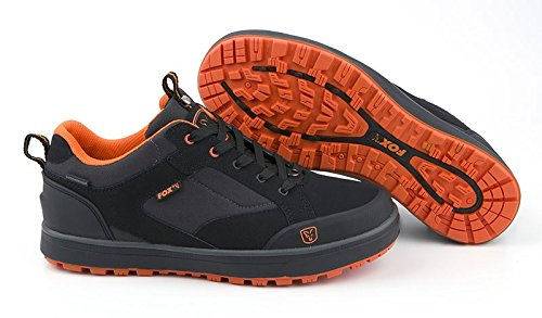 Fox Black & Orange Trainers Gr.10/44