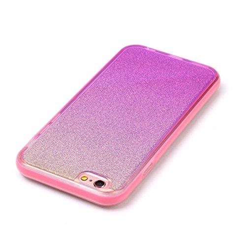 iPhone 6 Plus Coque,iPhone 6S Plus Silicone Coque,iPhone 6S Plus Housse - Felfy Glitter Etui Housse Placage Coque en Silicone Ultra-Mince Etui Soft Housse Plating Case Slim Gel Cover, Felfy Etui de Pr Miroir Rosa
