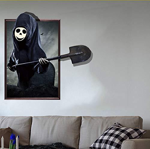 Gwgdjk 2019 Halloween 3D Wandaufkleber Lebendiger Horror Ghost BatDecor Abnehmbare Poster (Poster 2019 Halloween)