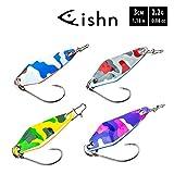 FISHN Set di lampeggiatori BLISSI 2,2gr, 3 cm - Cucchiaio per la Pesca di trote, persici, Pesca a Spinning (4 Pezzi)