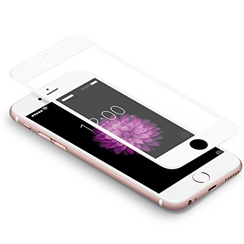 "Coolreall Schutzfolie kompatibel for iPhone 6 Plus/ 6S Plus , Full Screen Curved Panzerglas kompatibel für iPhone 6 Plus/ 6S Plus 6 5,5"", [9H Härtegrad, 3D-Touch kompatibel] (Weiß)"