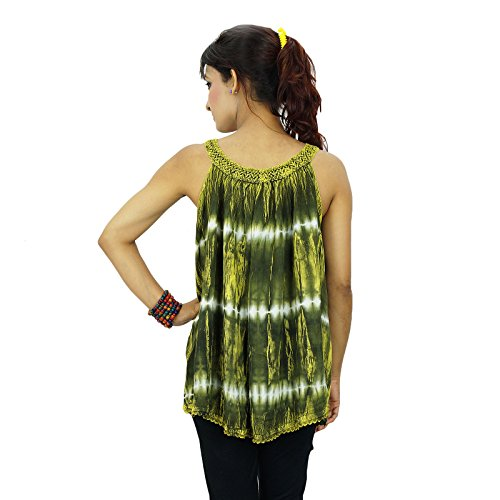 Rayon Indian Summer Vêtements Boho Top Tunique Robe Vêtements Vert