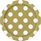 Unique Party Supplies Polka Dot Partyteller, 8 Stück