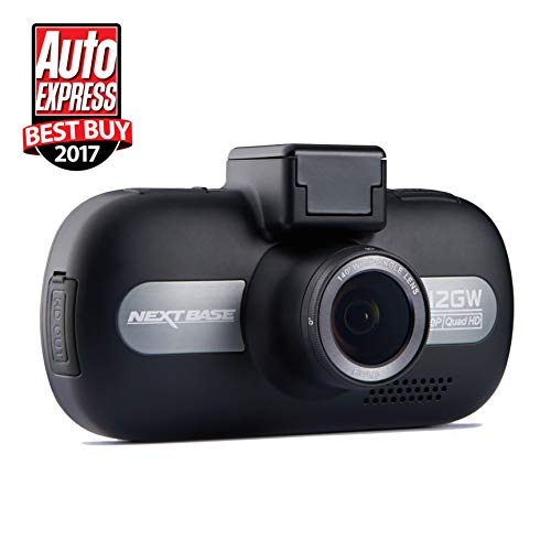 Nextbase 512GW - Full 1440p HD In-Car Dash Camera DVR - 140° Viewing Angle - WiFi and GPS - Anti-Glare Polarising Filter - Black Logo