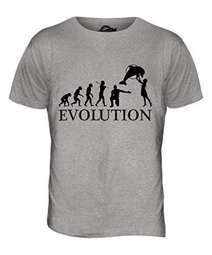 CandyMix Aquarium Evolution Des Menschen Herren T Shirt Grau Meliert