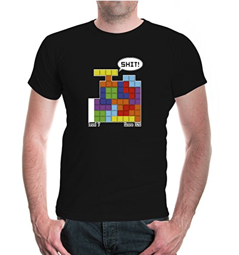 T-Shirt Steinpuzzle-S-Black-z-direct (Video-spiel-forum)