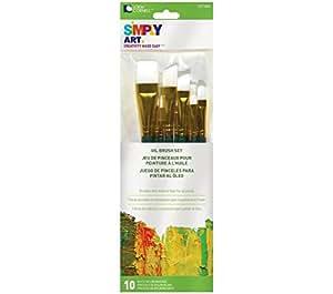 loew-cornell einfach Art weiß Nylon Pinsel-Set 10/Pkg, anderen, mehrfarbig