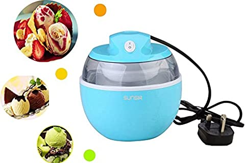 SunSir Mini (0.6 Quart/ 0.6L) Automatic Ice Cream Maker, Frozen Fruits Sorbet ,Frozen Yogurt Machine for Kids' Own Healthy