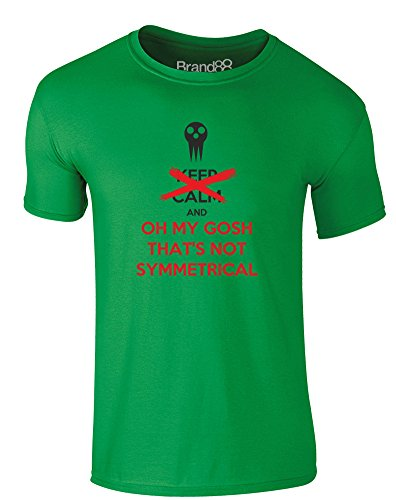 Brand88 - That's Not Symmetrical, Erwachsene Gedrucktes T-Shirt Grün/Schwarz/Rote
