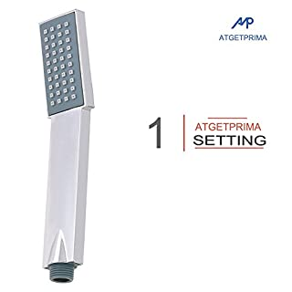 ATGETPRIMA ABS Handheld Shower Head L-style High Pressure Single Function Luxury Hand Showerhead Chrome(only shower head)