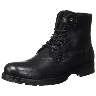 JACK & JONES Herren Jfwhanibal Leather Black Klassische Stiefel, Schwarz (Black), 44 EU