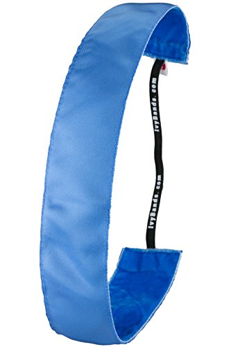 Ivybands® | Das Anti-Rutsch Haarband | Capri Blue Extra Breit | One Size | IVY617