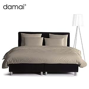 Damai Damai massif–Champignon Housse de couette de 135x 200cm coton