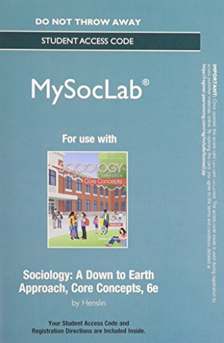 NEW MySocLab without Pearson eText -- Standalone Access -- for        Sociology:Core Concepts