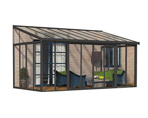 Palram Terrassenüberdachung, Wintergarten, Veranda Sanremo anthrazit // 300x546 (TxB) / Überwinterungsüberdachung