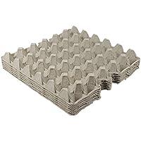 Eierpappe für 30 Eier, grau, 6 Stück