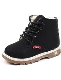 Botas Niño invierno Amlaiworld Martin Botas de Chicos Chicas Sneaker patucos Zapatillas calientes de Bebé niños niñas (24, Negro)