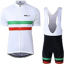 ba33e8e10483 logas Abbigliamento Ciclismo Set Estivo Completo Ciclismo Uomo Maglie  Ciclismo Manica Corta Italian+Salopette Ciclismo