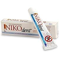 Nikodent Dentifricio naturale per Smettere di Fumare stop fumo sigarette, pasta dentifricia al fluoro e agli oli essenziali naturali protegge denti e gengive, previene placca e tartaro. Tubo da 75 ml
