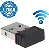 Captcha 500Mbps, 2.4Ghz, USB 2.0 Wireless Mini Wi-Fi Network Adapter/Receiver For Windows Pc And Laptops (Multi-Color)