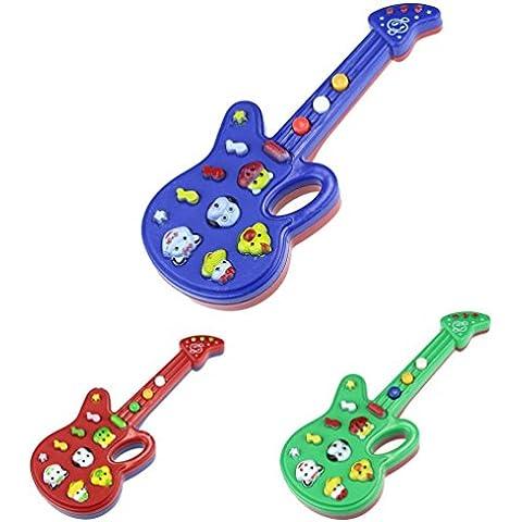 Fortan Regalo bambini bambino chitarra giocattolo elettronico Filastrocca Musica Bambini