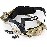 DECHO-C - Casco de casco rápido con sistema de suspensión de bloqueo de cabeza