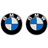 2 x BMW Emblem Emblemas para capó y Maletero 82mm Hood Logo Delantero Trasero Bonnet Boot para la Serie BMW