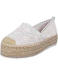 02984e3a YWLINK Plataforma Hueca para Mujer Zapatos Casuales Color SóLido  Transpirable CuñA Alpargatas Antideslizante CóModo Zapatos Romanos