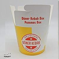 500  Dönerboxen 480 ml 16 oz  Döner to go Snackboxen Pomdöner Pommes Box NEU !!!