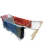 LiMETRO STEEL Made in India Foldable Stainless Steel Modern Cloth Stand for Drying Clothes